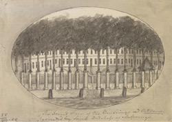 The traced view of the Building at St. Albans errected by Sarah Dutchess of Marlborough